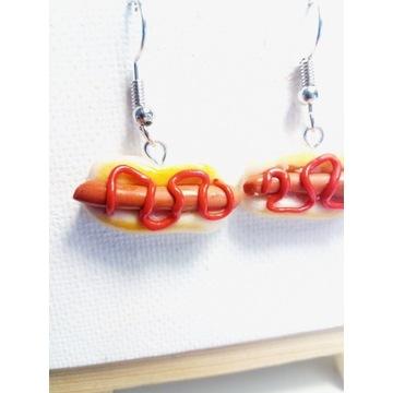 Kolczyki hot dogi Fimo