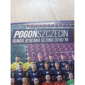 Karty Pogoń Szczecin z autografami