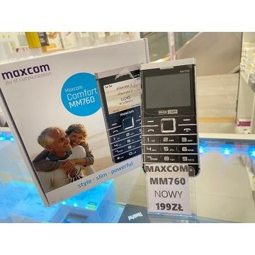 NOWY PROSTY TELEFON DLA SENIORA MAXCOM MM760 FOTO