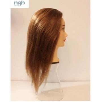 Główka fryzjerska treningowa 100% włos ludzki NAH