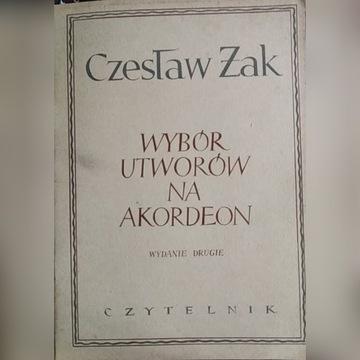 Żak Wybór utworów na akordeon 1953 Kolekcjonerskie