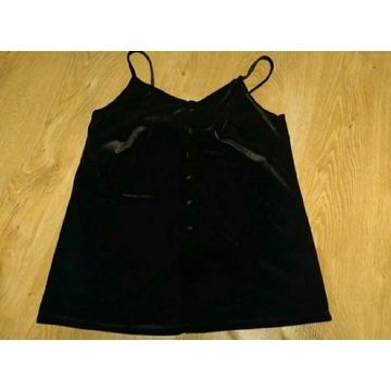 Czarna welurowa bluzka top reserved M 38