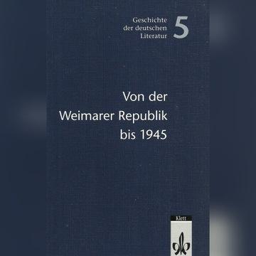 """Wyd. Klett """"Von der Weimarer Republik bis 1945"""""""