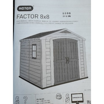 Domek Keter FACTOR 8×8
