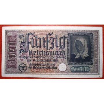 50 RMk 1939-44  Seria C  Stan ++2