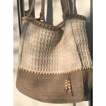 Artystyczna torba, bawełniany sznurek.