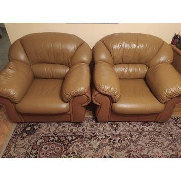 Fotel skórzany brązowy