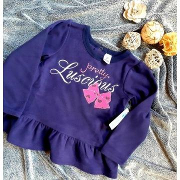 Zestaw bluzeczek dla dziewczynki 2-3 lata kokardka