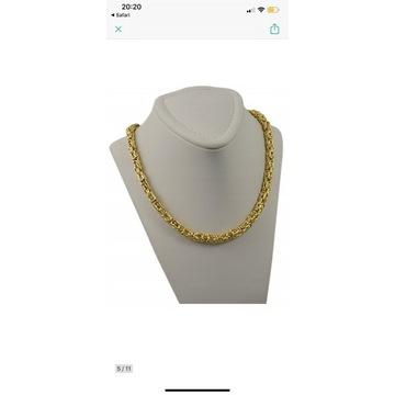 Łańcuszek złoty 585 królewski splot