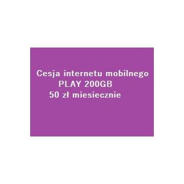 Cesja internetu 200GB 50 zł/m