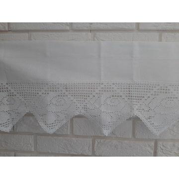 IZA Stylowa zazdrostka firana 30x100 biały bawełna