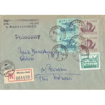 Międzychód - Koperty listów poleconych 1960-80