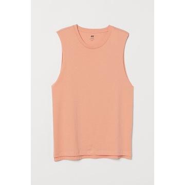 Koszulka Relaxed Fit H&M brzoskwiniowa