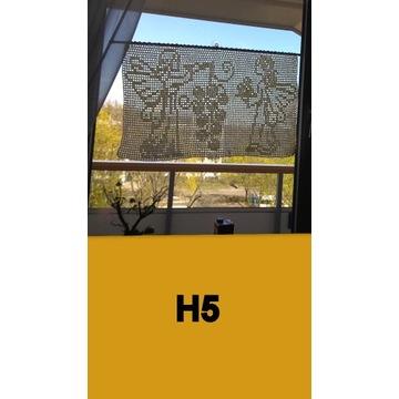 Szydełkowa firanka H5 - ok. 80/48 cm ecry .