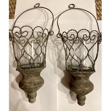 Lampion, latarenka wiszący postarzany, schaby chic