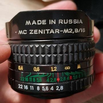 Zenitar Fish-eye M2,8/16 16mm mocowanie M42
