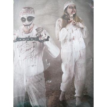 Zombi kostium z tubką sztucznej krwi