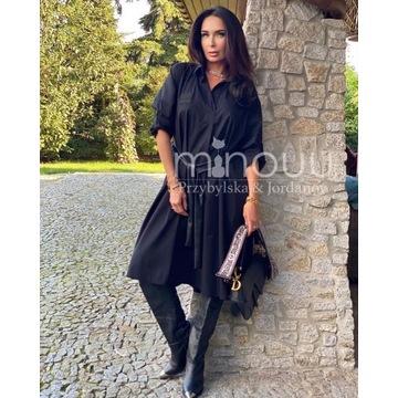 Minouu sukienka szmizjerka Roksana czarna