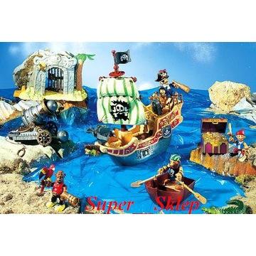 Wyspa piracka, okręt, piraci, Super Zestaw!!!