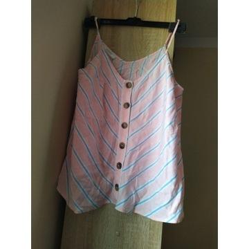Top - bluzka  Promod XL rózowy w paski