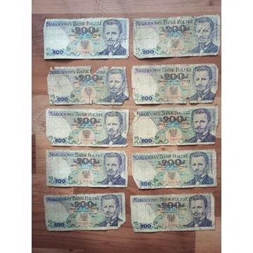 Banknoty PRL 200 zł Dąbrowski