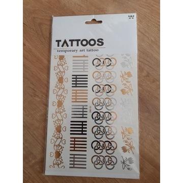 Zestaw tatuaży złote,srebrne. Tattoos.