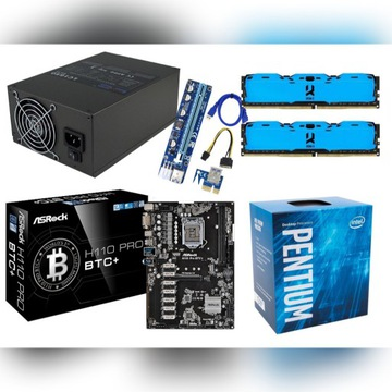 Koparka zestaw LC1650 H110Pro BTC+ 2x4GB G4560