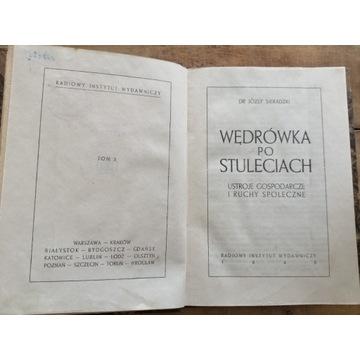 Stara książka WĘDRÓWKA PO STULECIACH
