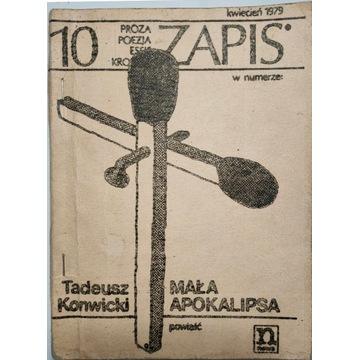 Mała Apokalipsa Tadeusz Konwicki I wydanie ZAPIS