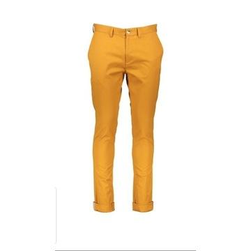 Spodnie Chino Ben Sherman, r. 32/34, pomarańczowe