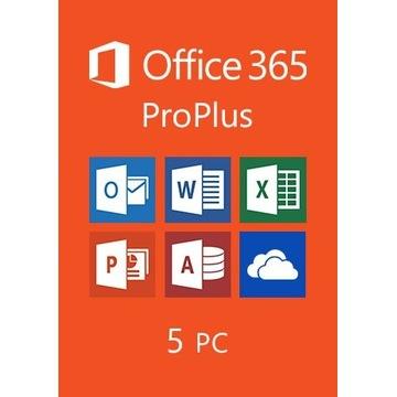 MS Office 365 2019 Pro PL MAC Macbook +5 stanowisk
