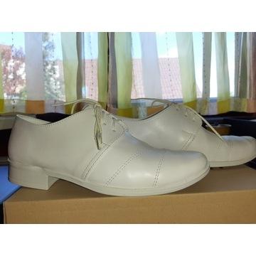 Buty komunijne chłopięce roz. 33 białe