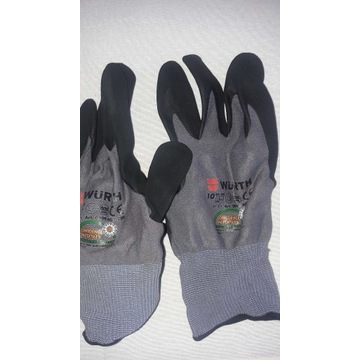 Wurth multifit rękawice nitrylowe szare 9 10 11