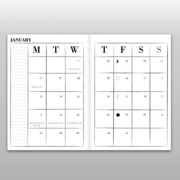 My Little Book Of Spells kalendarz A5 Harry Potter