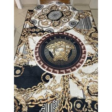 Dwa dywany styl Versace duży 160x230 koło 120x120