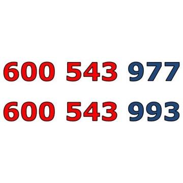 600 543 977+600 543 993 T-MOBILE ZŁOTY NUMER PARA