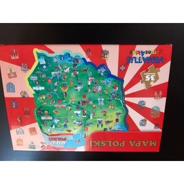 puzzle mapa polski stan bdb