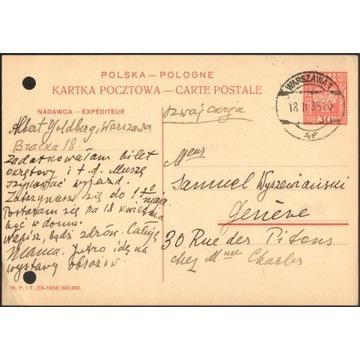 Cp 067 s.IX.1934 Warszawa - Genewa