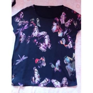 Czarno kolorowa bluzeczka M/L