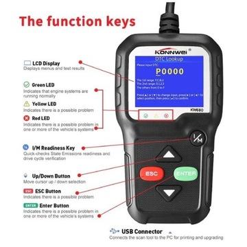 Tester diagnostyczny KONNWEI KW680 EOBD OBDII CAN
