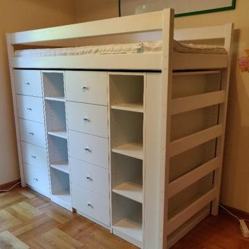 Łóżko dziecięce piętrowe - z zabudową Komandor