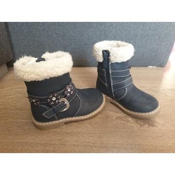 Buty zimowe dla dziewczynki r 22 Nelli Blu kozaki