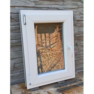 Okno PCV Białe 540x730 10letnie Dwie szyby Stan BD