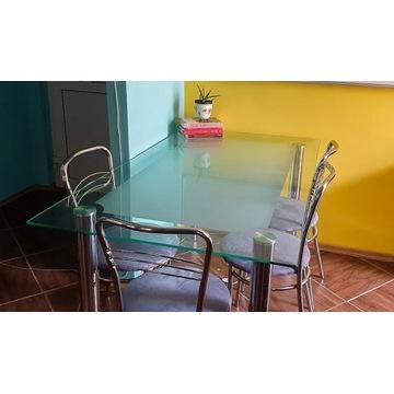 Szklany stół do jadalni lub kuchni!
