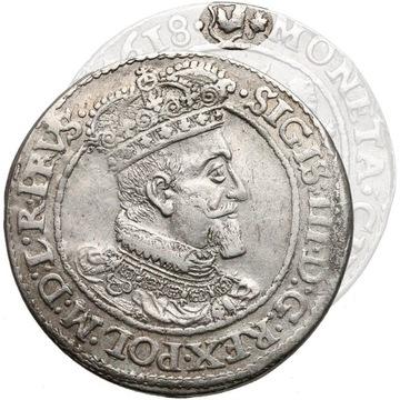 ORT 1618 Gdańsk liść klonu R2 Zygmunt III Waza