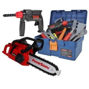 SKRZYNKA z narzędziami + PIŁA dla dzieci Z324Z