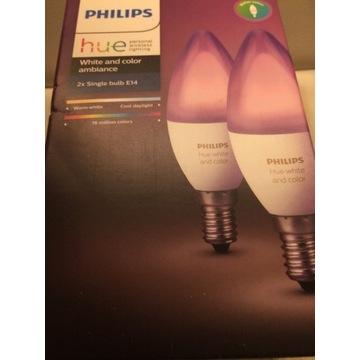 Zestaw 2 Żarówki Philips Hue White and Colour E14
