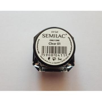 Semilac uv gel only one clear 01 5 ml żel budujący