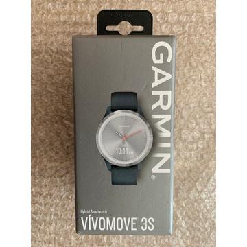 Garmin Vívomove 3S (granatowo-srebrny)