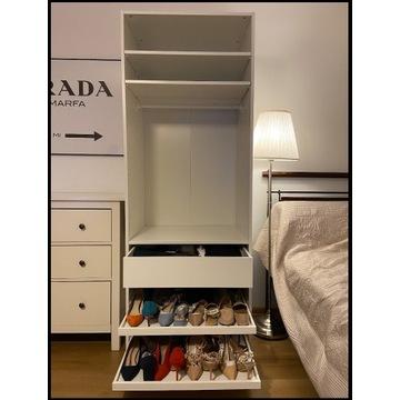 Ikea Pax/Komplement 2 szafy/półki/tace/szuflady/dr